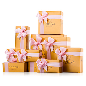 Godiva Wedding favours personalised ribbons
