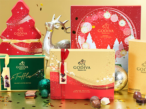 Godiva Advent and Christmas 2020 collection