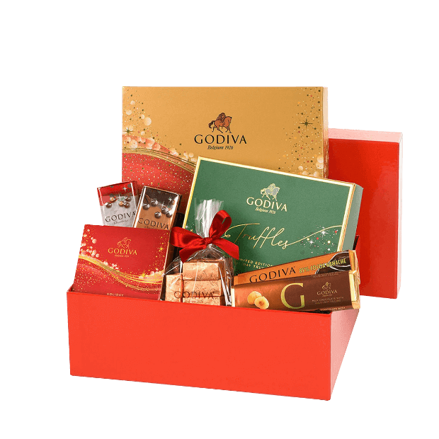 Godiva Luxurious Red Christmas Gift Box