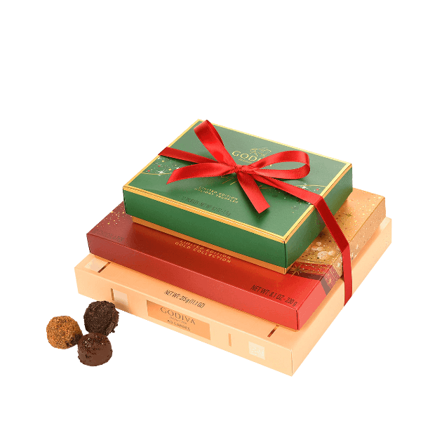 Godiva Christmas Chocolate, Truffle & Carre Gift Tower