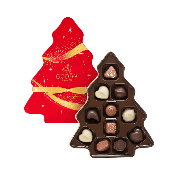 Godiva Christmas Tree Box Chocolate