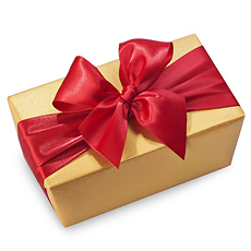 Untie the rose red ribbon and unwrap the shimmering gold paper to reveal this exciting gift ballotin filled to the brim with the very best Godiva chocolates.