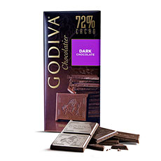 Godiva Tablet Pure Chocolade 72%, 100 g
