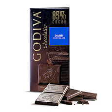 Godiva Tablet Pure Chocolade 85%, 100 g