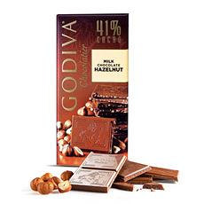 Godiva Tablet Extra Creamy Milk Chocolate Hazelnut