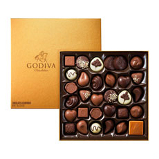 Godiva Gold Rigid Box, 34 pcs