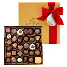 Treat someone special to an exciting selection of 34 Godiva signature chocolates this Christmas.