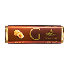 Godiva's silky smooth Belgian milk chocolate meets crunchy nutty praline in this heavenly chocolate bar.