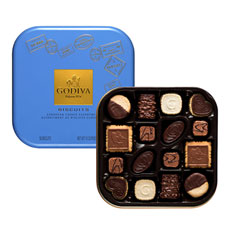 Godiva Luxury Chocolate Biscuits Tin, 50 pcs