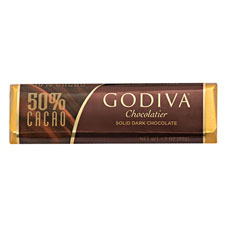 Take the rich indulgence of Godiva's Dark Chocolate Bar made with 50% cacao with you wherever you go.