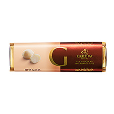 The perfection of Godiva milk chocolate meets the heavenly crunch of premium roasted macadamia nuts in this irresistible chocolate bar.