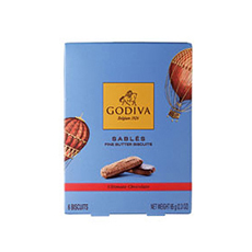 Godiva Ultimate Chocolate Sablés Biscuits, 65 g