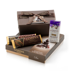 Godiva offers its Belgian chocolate expertise through its high quality dark chocolate in 50% & 72% cocoa in this luxury gift assortment of irresistible pralines, ganaches, caramels, and more.