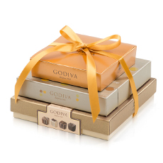 Godiva Luxury Chocolate Trio Tower
