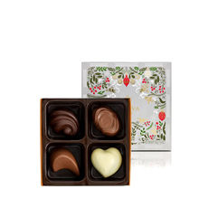 A tiny but tasty chocolate box treat that makes the perfect secret Santa gift or stocking filler, beautifully decorated.