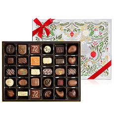 A selection of 32 chocolates including our finest seasonal & core chocolates creates a beautifully festive, mellow, elegant and varied collection.