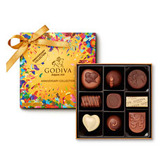 Celebrate Godiva s 90th anniversary with this limited edition box of 9 pieces.