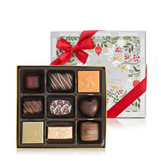 Godiva Christmas Decorated Gift Box, 9 pcs