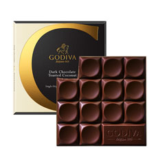 Godiva Tablet Dark Chocolate Toasted Coconut