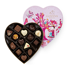 Godiva Valentine Heart Shaped Giftbox, 14 pcs