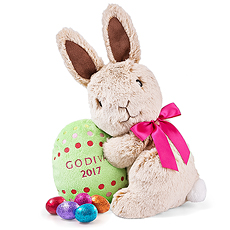 Godiva Plush Bunny With Eggs