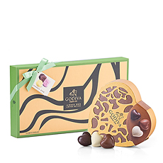 Godiva's contemporary new Duo Icônes gift box is paired with a traditional Godiva favorite, the Coeur Grand Chocolates for the perfect combination of classic and exotic chocolate flavors.