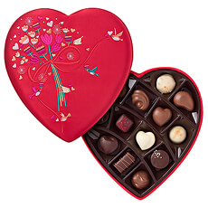Godiva Romantic Luxury Heart Box, 13 pcs