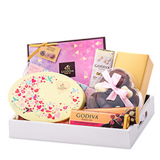 "Say ""I love you"" with all your heart with this luxurious chocolate gift from Godiva in romantic spring colors."