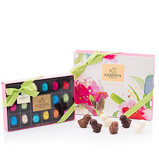 Celebrate Easter with this luxurious chocolate from Godiva. Discover the new Spring Box with seasonal chocolates, a box with 18 seasonal chocolate Easter pops and 6 chocolate Easter chicks