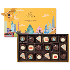 De Wonderful City Dreams collectie neemt je mee op een internationale, culinaire reis vol chocoladeplezier.