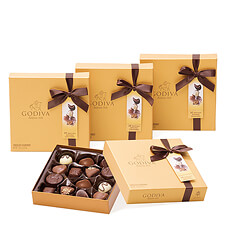 Godiva Gold Rigid Box Set, 3+1