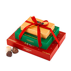The delicate Godiva chocolate delicacies really pile up in this gift. This is the ideal gift for every chocolate lover this Christmas.