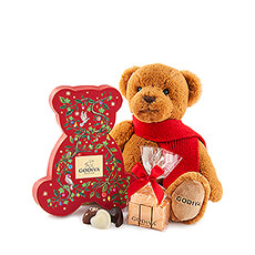 This super cute Godiva holiday gift is the perfect present for under your Christmas tree.
