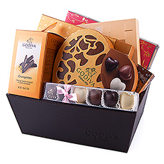 Godiva's most romantic gift basket will spoil your loved ones with chocolates.