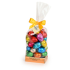 Nothing says Easter better than chocolate eggs wrapped in colourful, shiny foil  and weve got bags full of them at Godiva!