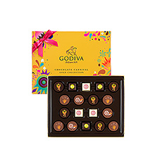 Carefully selected by Godiva Chef chocolatiers, these new, delicately decorated chocolates will create a sensational experience on the palate.
