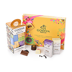 This special gift set includes the limited-edition Carnival gift box, classic Napolitains, and white & dark chocolate Mini Pearls.