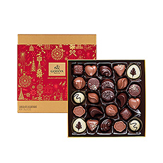 Another gem from our Christmas collection... it's the Christmas Gold box! 24 delicious Godiva chocolates, perfect for every Christmas party.