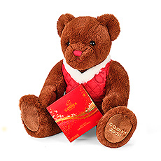 Soft, cuddly and so charming, this Christmas the new Godiva teddy bear will conquer many hearts!
