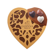 Godiva Gold Cœur Selection, 14 pcs