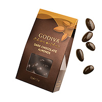 Godiva Chocoiste Almonds with Dark Chocolate Coating, 57 g