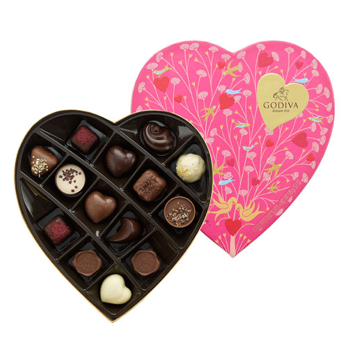 Godiva Valentine\'s Heart Shaped Gift Box 14 pc - Delivery in ...