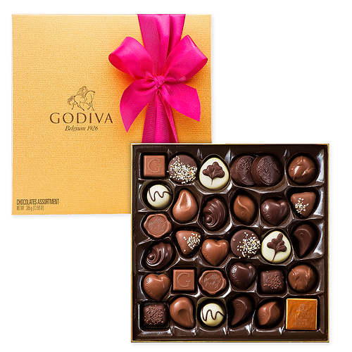 Godiva Decorated Gold Box, 34 pcs