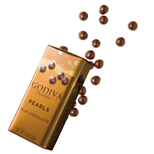 Godiva Pearls Milk Chocolate, 43 g