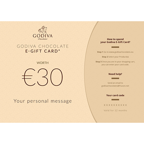 Godiva Chocolate E-Gift Card: 30 Euro