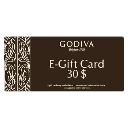 Godiva Chocolate E-Gift Card: 30 dollar