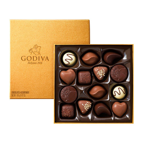Godiva Gold Rigid Box 14 Chocolates