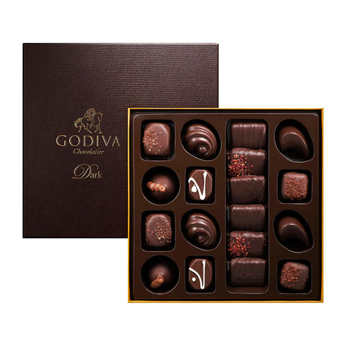 Godiva Connoisseur Donkere Chocolade, 18 st
