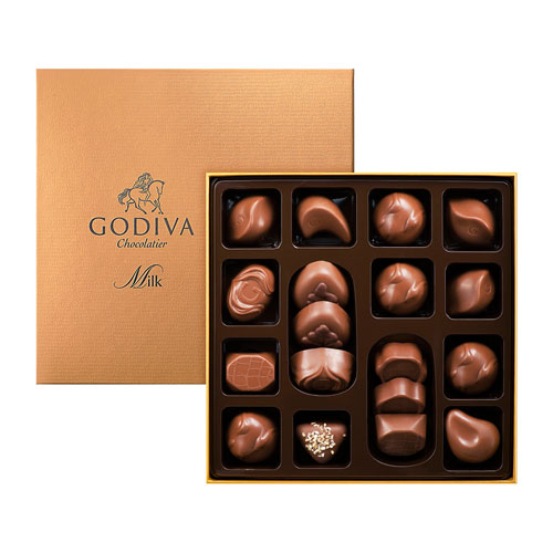 Godiva Connoisseur Milk 18 Chocolates