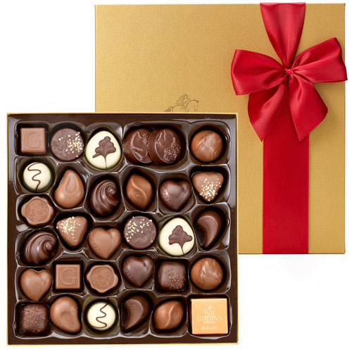 GOCH Valentine 2015 Gold Rigid Box 34 Chocolates